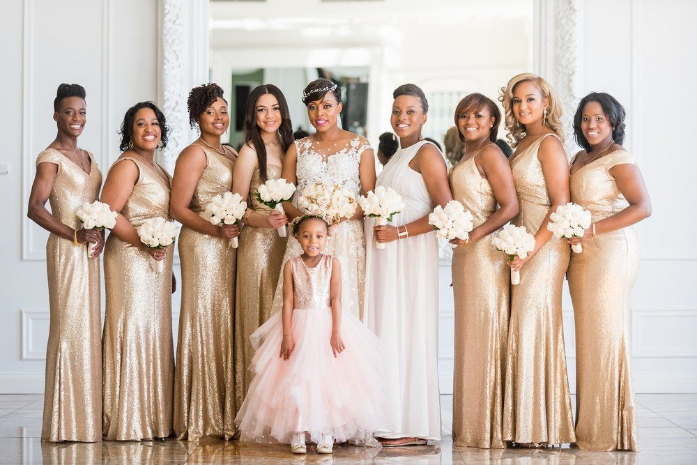 Our Elegant And Wedding Day Gold Bridesmaid