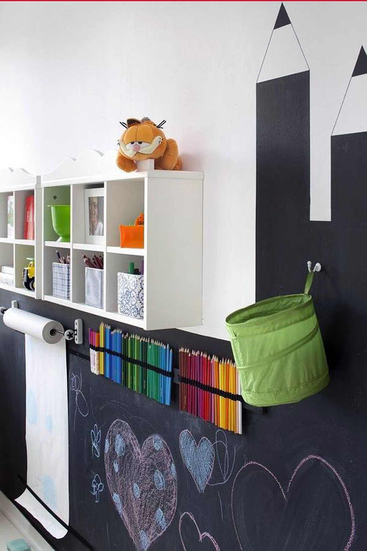 For the kid ... painting walls with chalk paint