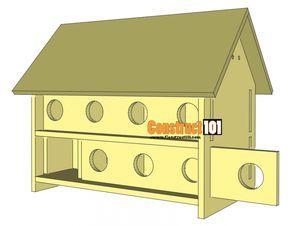 Purple Martin Bird House Plans 16 Unit Construct101