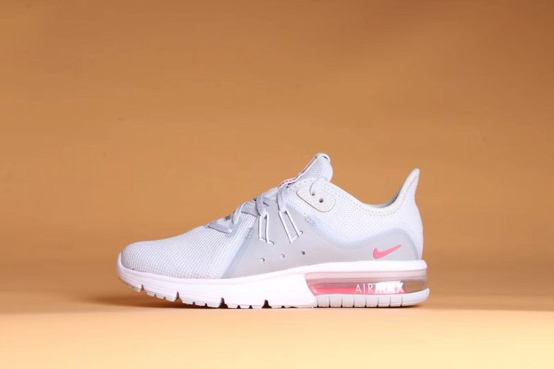2018 Cheap Women Nike Air Max Sequent 3 Platinum Grey Pink White On Sale 804d9456d