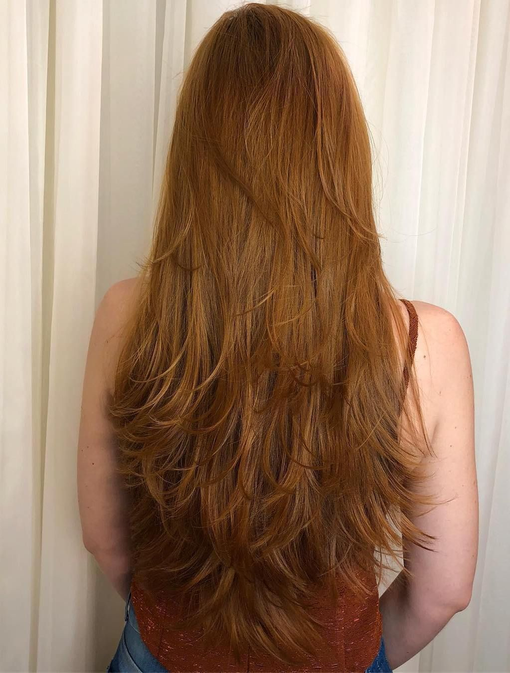 Extra Long Ginger Hair With Feathers Long Layered Hair Haircuts For Long Hair Straight Hairstyles
