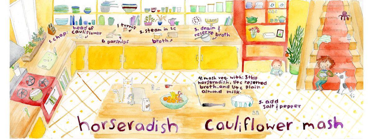 Horseradish Cauliflower Mash