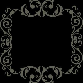 Moldura Redonda Oriental Com Elementos Florais E Arabescos Floral Preto E Branca Fronteira Carta Moldura Preto E Branco Molduras Redondas Monograma Casamento