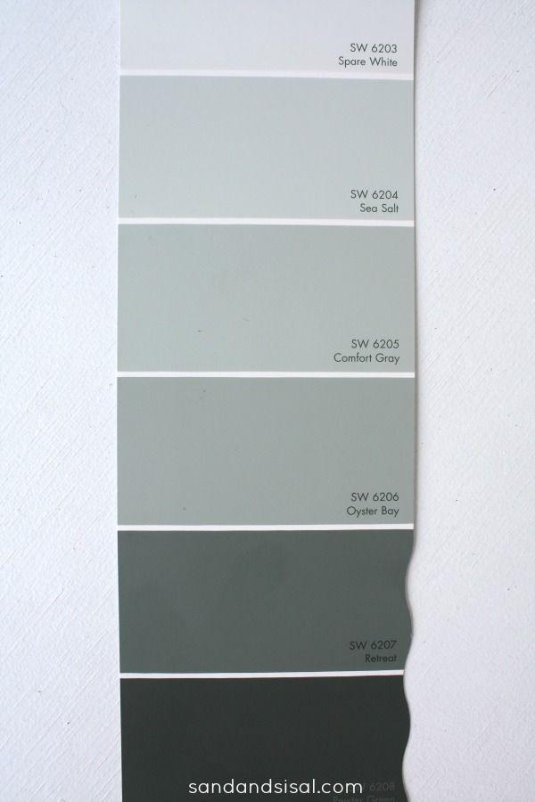 Paint Strip For Sea Salt Sw 6204 Google Search Comfort Gray Room Paint Interior Paint Colors Schemes