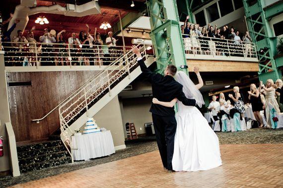 I Like The Lights Windows On River Wedding Photos