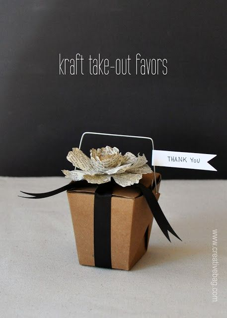 kraft take out favors from Creative Bag on the Creative Bag blog