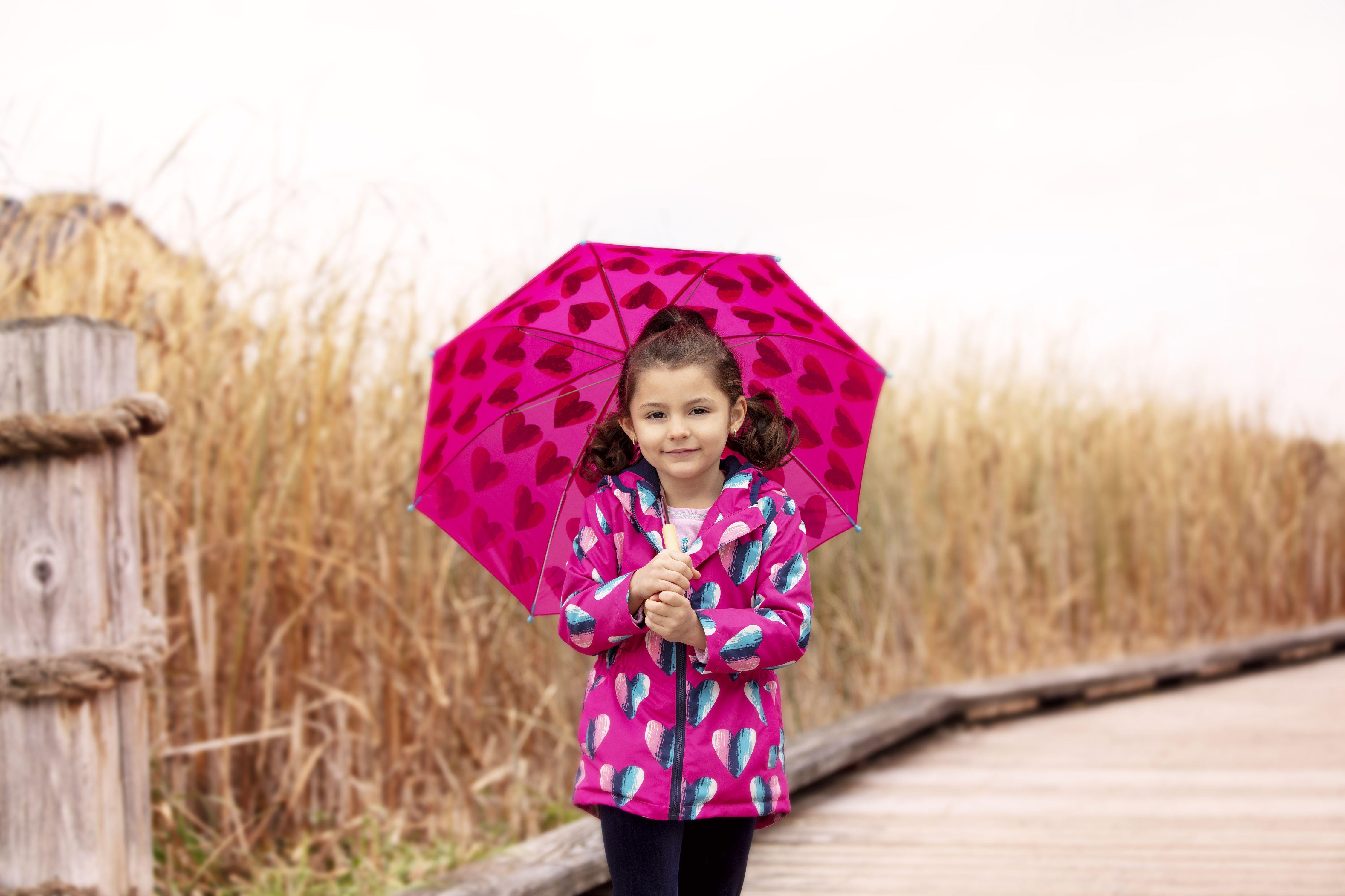 5dcaf25cc5af Hearts Microfiber Rain Jacket by Hatley + Hearts Umbrella by Hatley ...