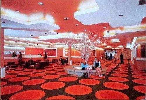 Post House Hotel hall Heathrow Airport 1968 Heathrow