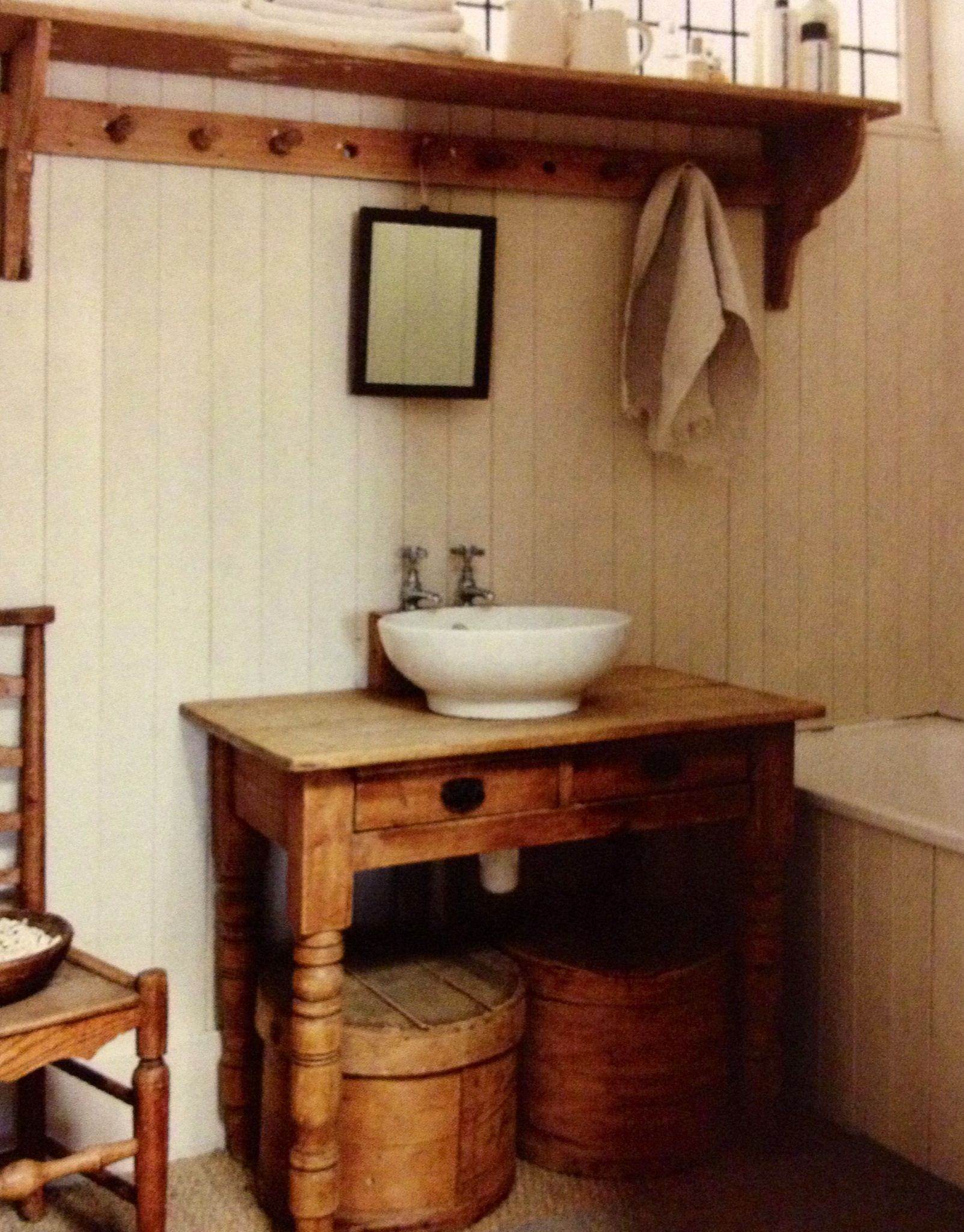 Wood Panels And Shaker Pegs Shelf Room Design By Alex Legendre Feature In Sainsbury S Magazine Mar Rustic Bathroom Vanities Rustic Bathrooms Bathroom Design
