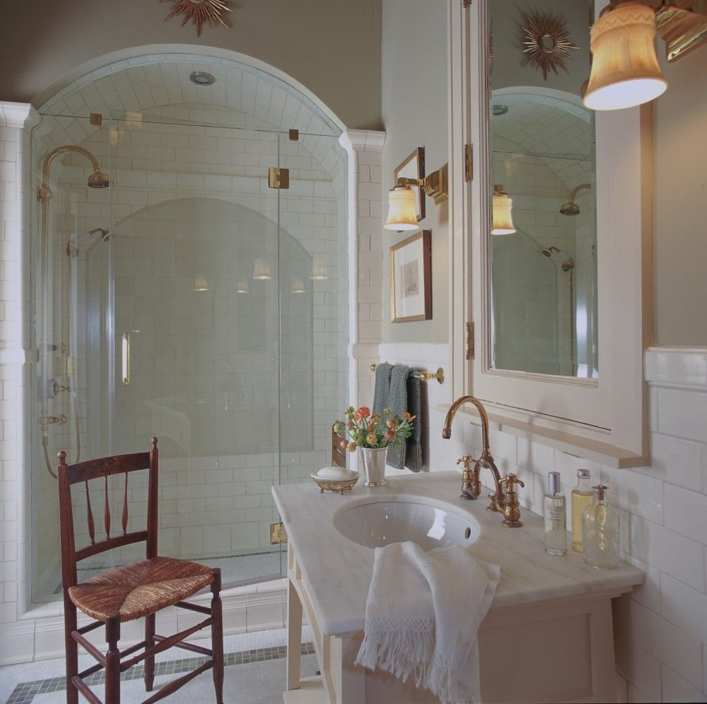 Bathroom The interior design of a summer home on