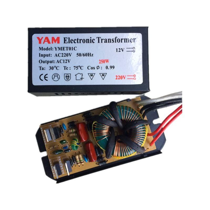Visit To Buy Yam 60w 80w 105w 120w 160w 180w 200w 250w Ac220v To Ac12v Electronic Transformer For G4 Quartz Lamp Haloge Halogen Lamp Quartz Lamp Crystal Lamp