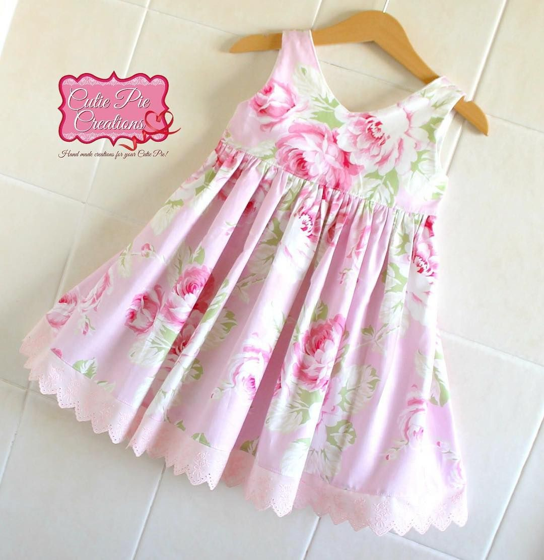 Pink dress baby  Darling Details   Pretty In Pink pink eyelet trim on a pink dress