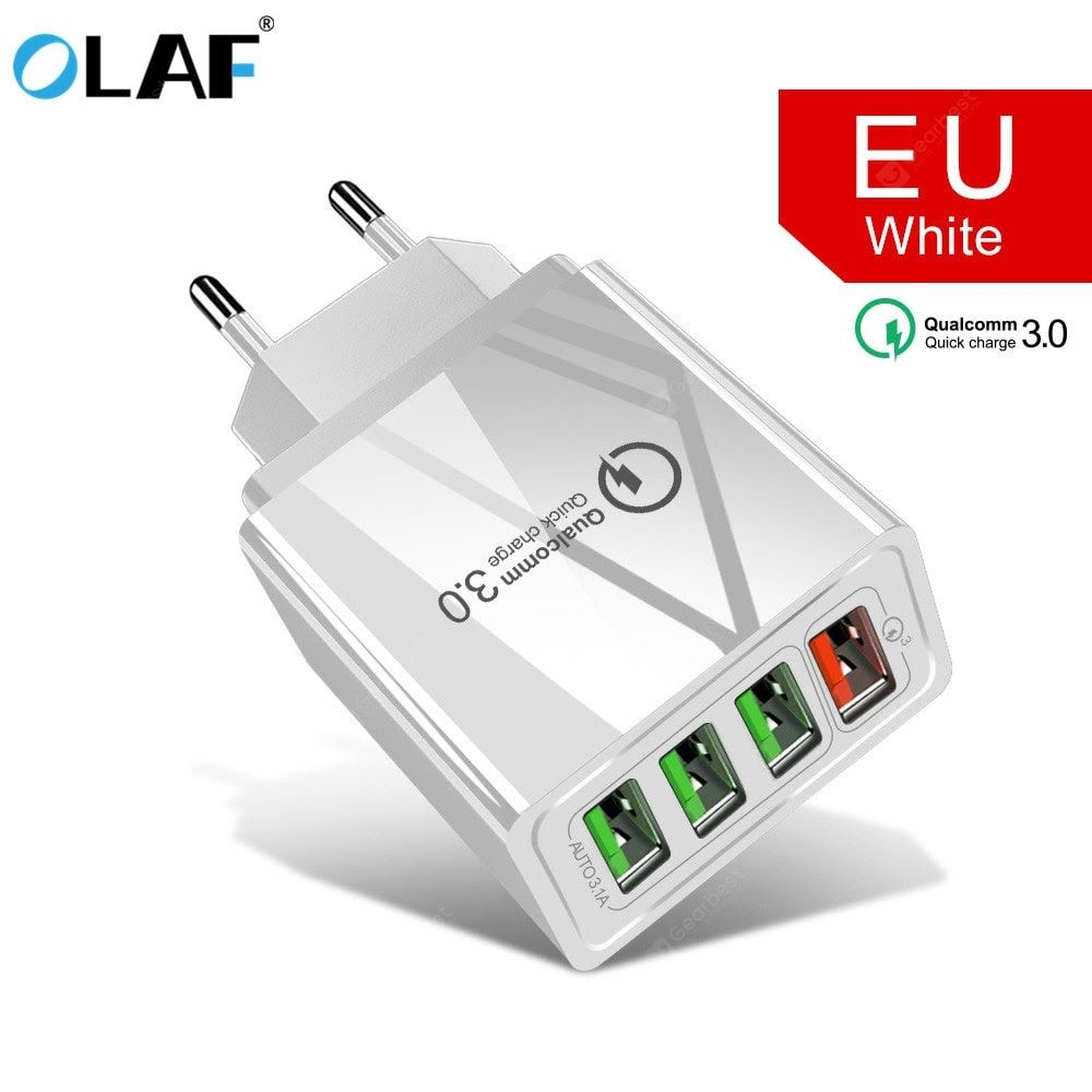 OLAF 3.0 USB Charger QC3.0 Fast Charging Mobile Phone Charger for iPhone Samsung Xiaomi mi note 10 Sale, Price & Reviews | Gearbest