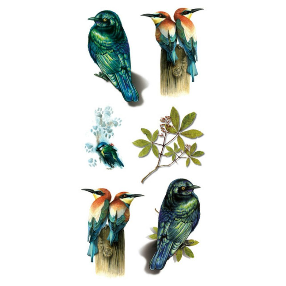 3d birds high quality water transfer waterproof temporary