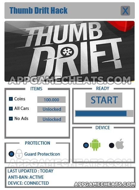 Thumb Drift Hack Tips Cheats For Coins All Cars No Ads