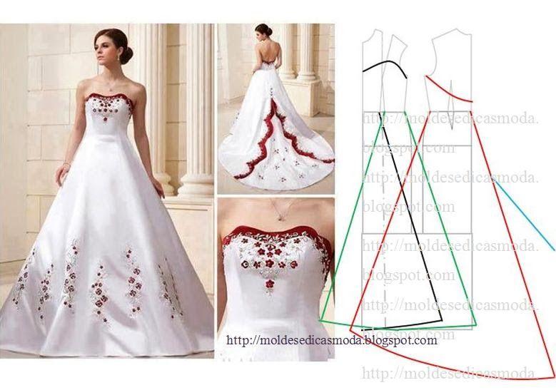 patron de vestido corte sirena - Buscar con Google | vestidos novia ...