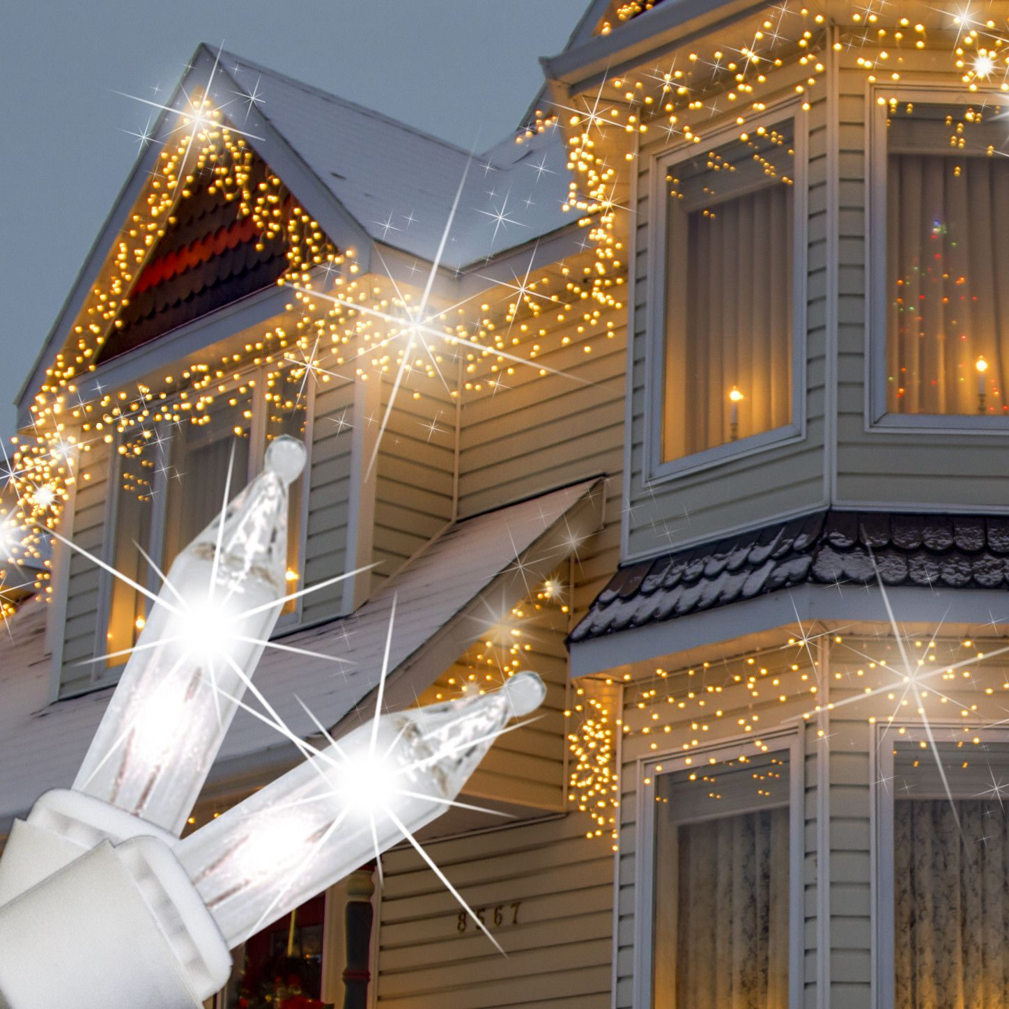150 Clear Twinkle Icicle Lights White Wire 14 99 Icicle Lights Icicle Christmas Lights White Wire Christmas Lights