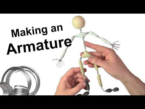 (44) Stop Motion Tutorial Making an Armature YouTube in