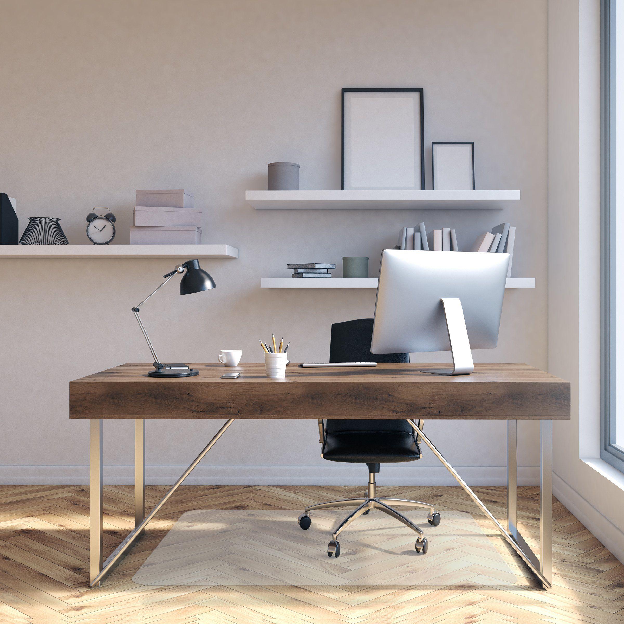 Office Chair Mat For Hardwood Floor Opaque Office Floor Mat Bpa Phthalate And Odor Free Multiple Sizes Availab Chair Mats Office Floor Mats Office Chair Mat