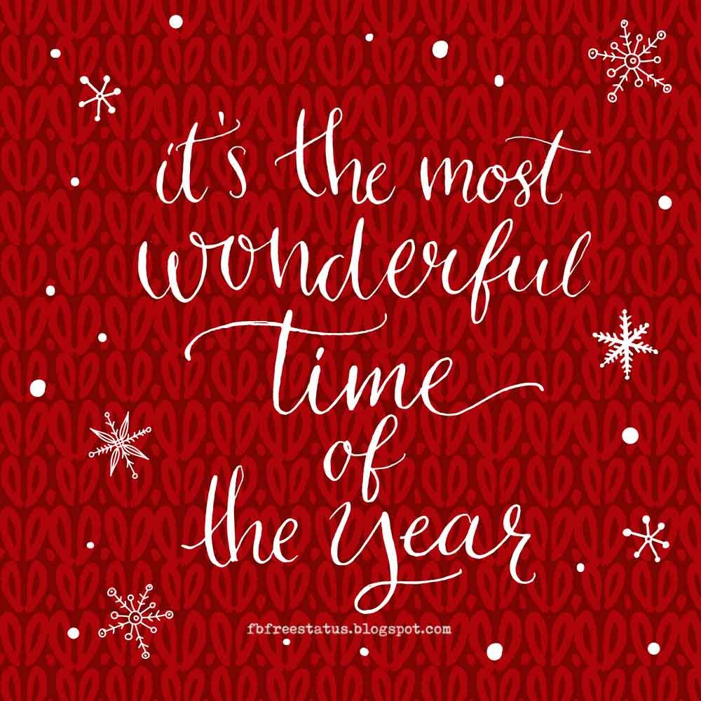 Exceptional Itu0027s The Most Wonderful Time Of Year, HAPPY NEW YEAR. New Year  Inspirational Quotes