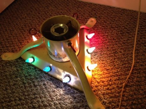 Antique 1930s Noma Christmas Tree Stand with working c6 Lights and