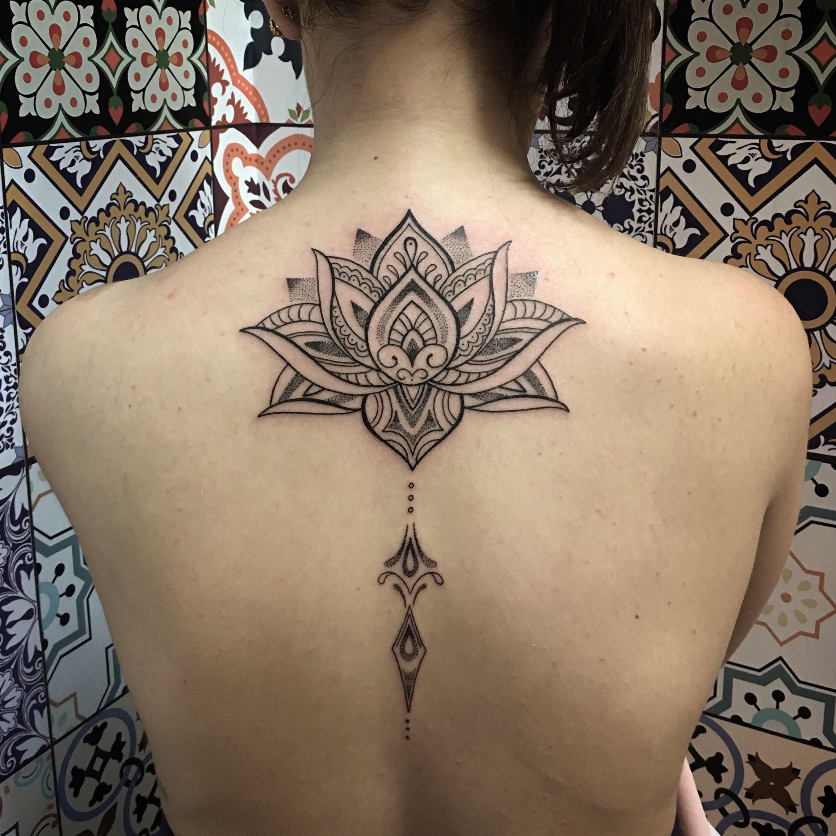 Lotus Flower Blackwork Tattoos Piercings Tattoos Flower