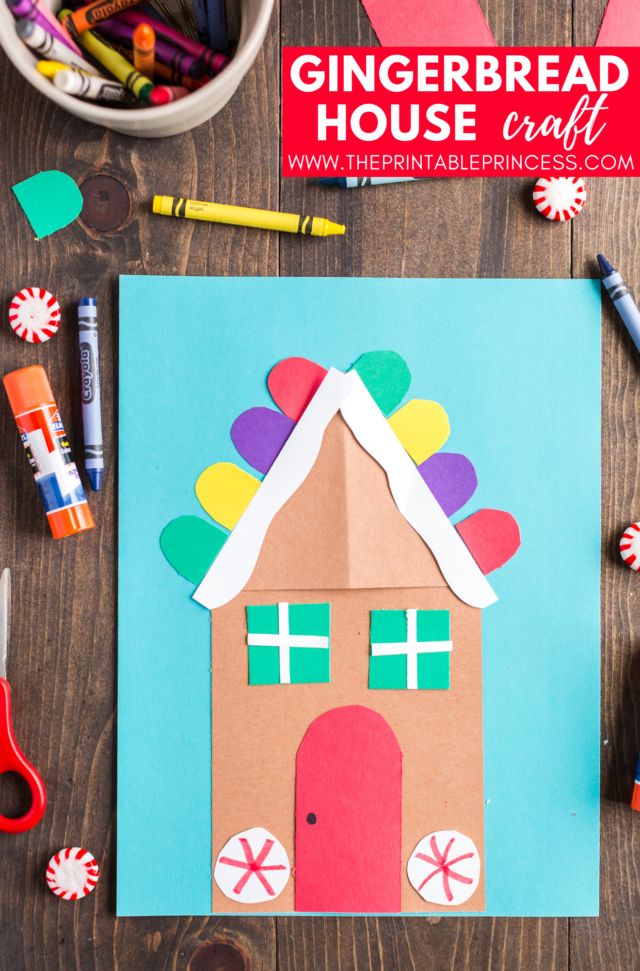 Gingerbread House Craft For Kids With Images