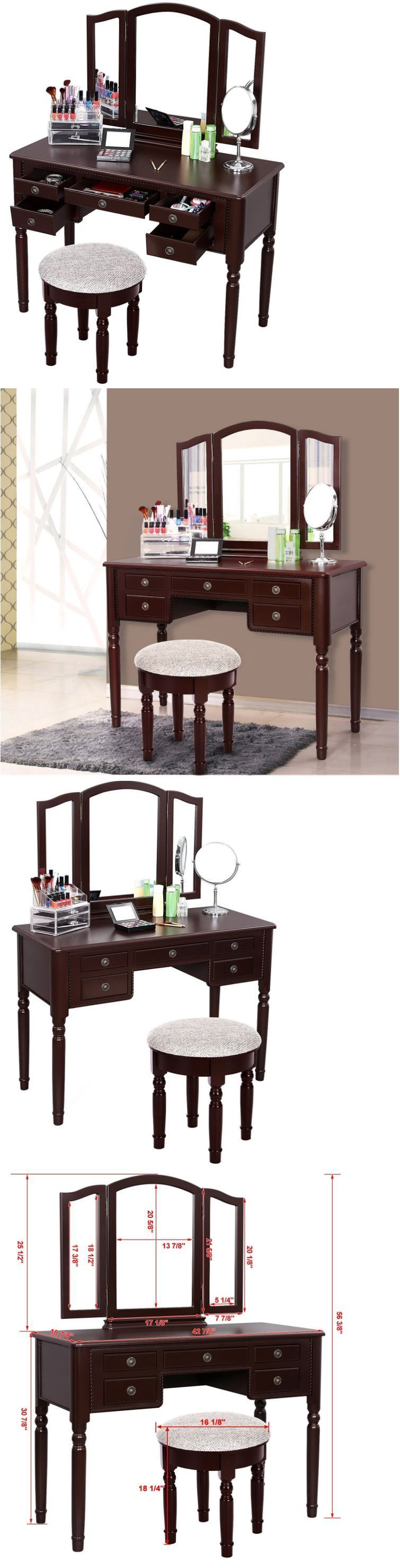 Vanities And Makeup Tables 32878: Vanity Set With Mirror For Girls