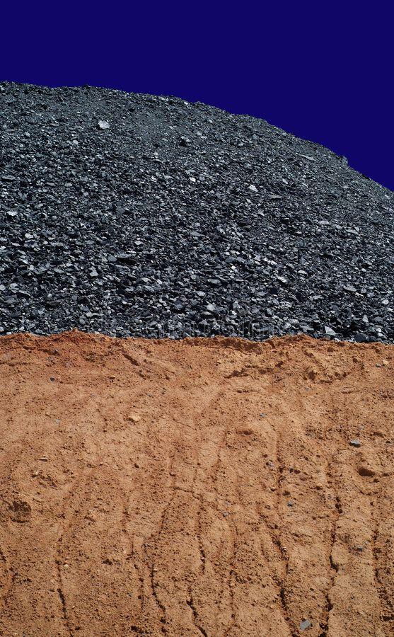 Coal mining 1 Coal mining hill of black energy on blue sky