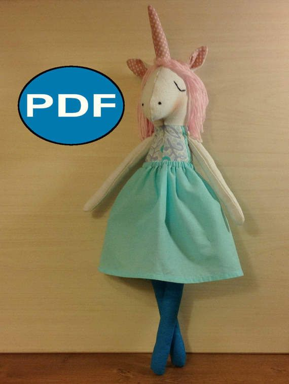 Heirloom doll unicorn sewing pattern and Tutorial ( IN ENGLISH ...