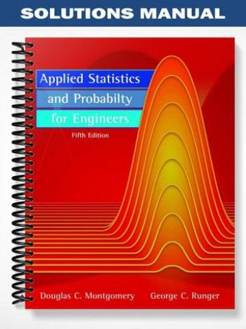 solutions manual for applied statistics and probability for rh pinterest com engineering statistics montgomery 5th edition solution manual pdf Statistics for Engineering and Science