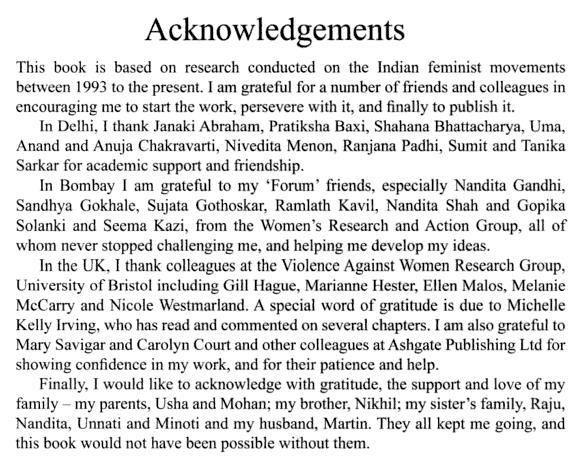 Acknowledgement Page Is An Important Feature In A Thesis