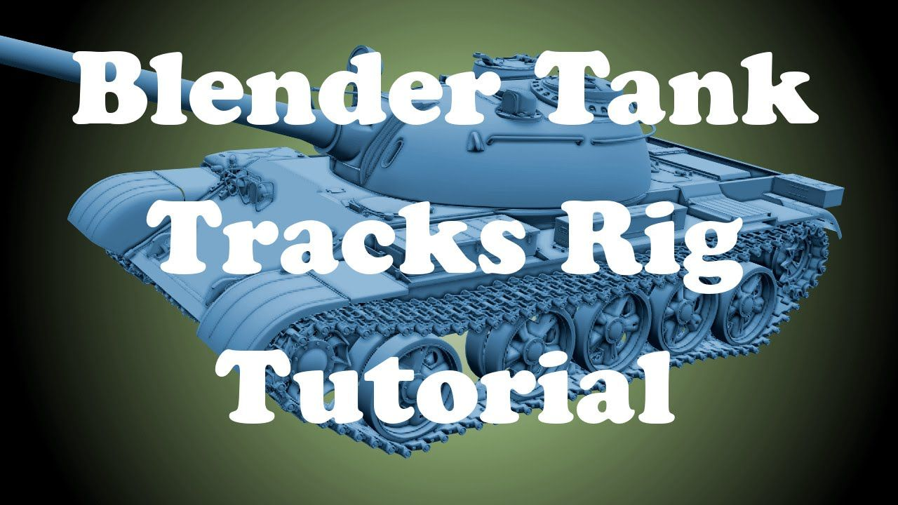 This tutorial explain how to rig tank track and suspension using physic in Blender