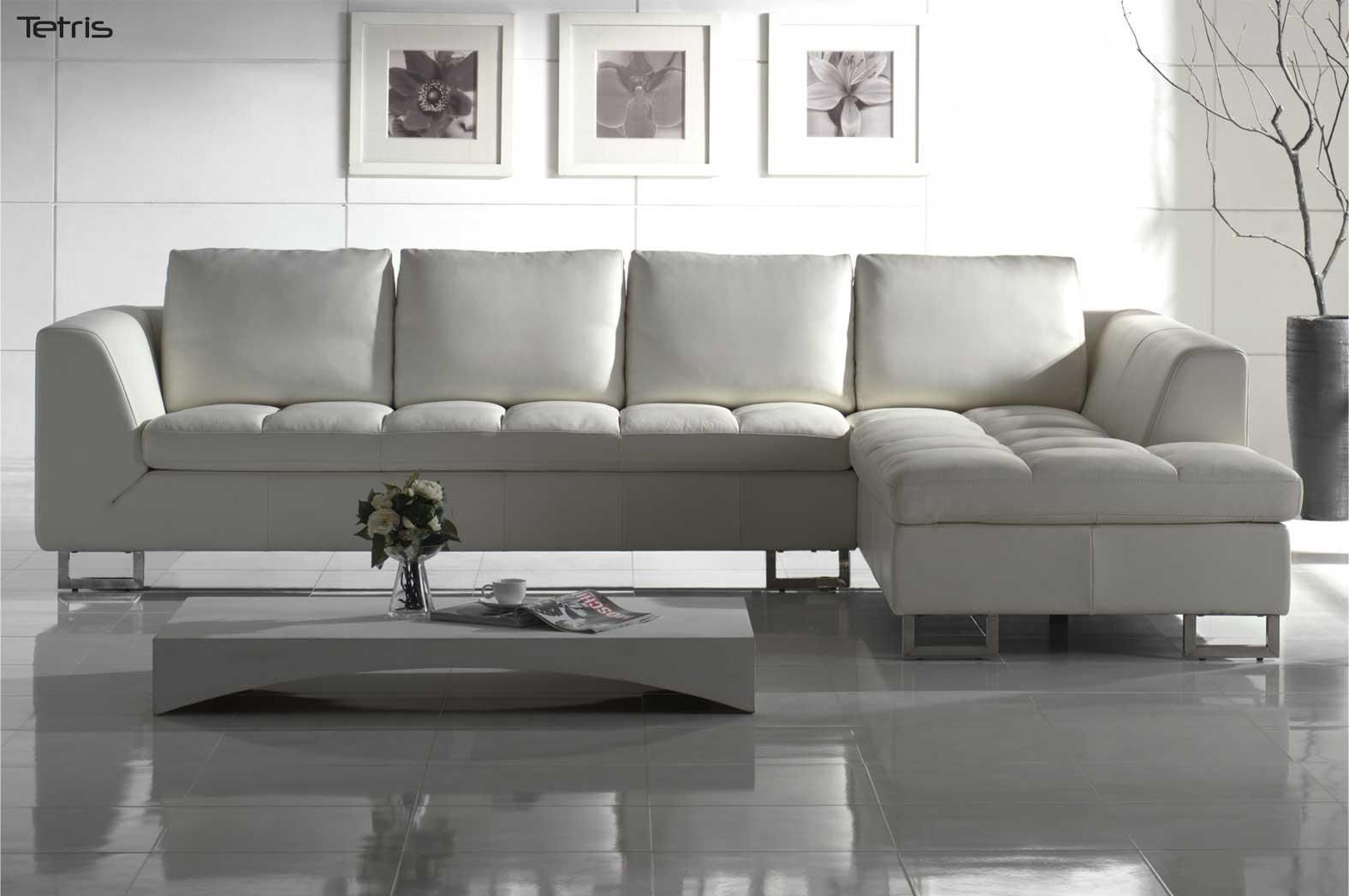 Modern White Sectional Sofa | Furniture Modern Red Leather Sectional ...