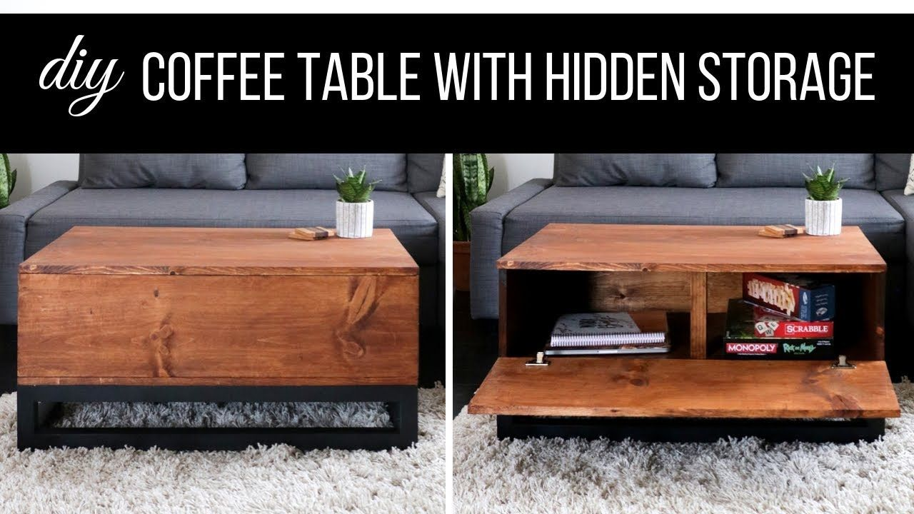How To Build A Coffee Table With Hidden Storage  DIY Living Room