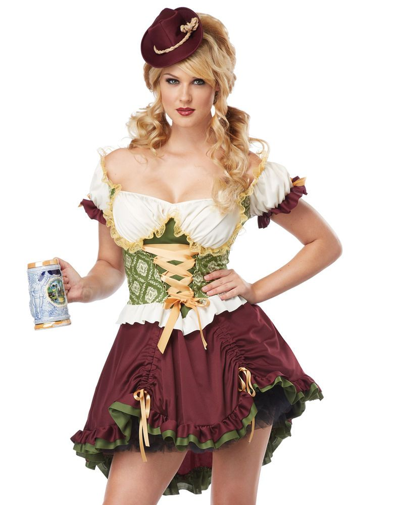 OP 320 Ladies Costume Fancy Dress Deluxe Oktoberfest German Wench Beer Maid