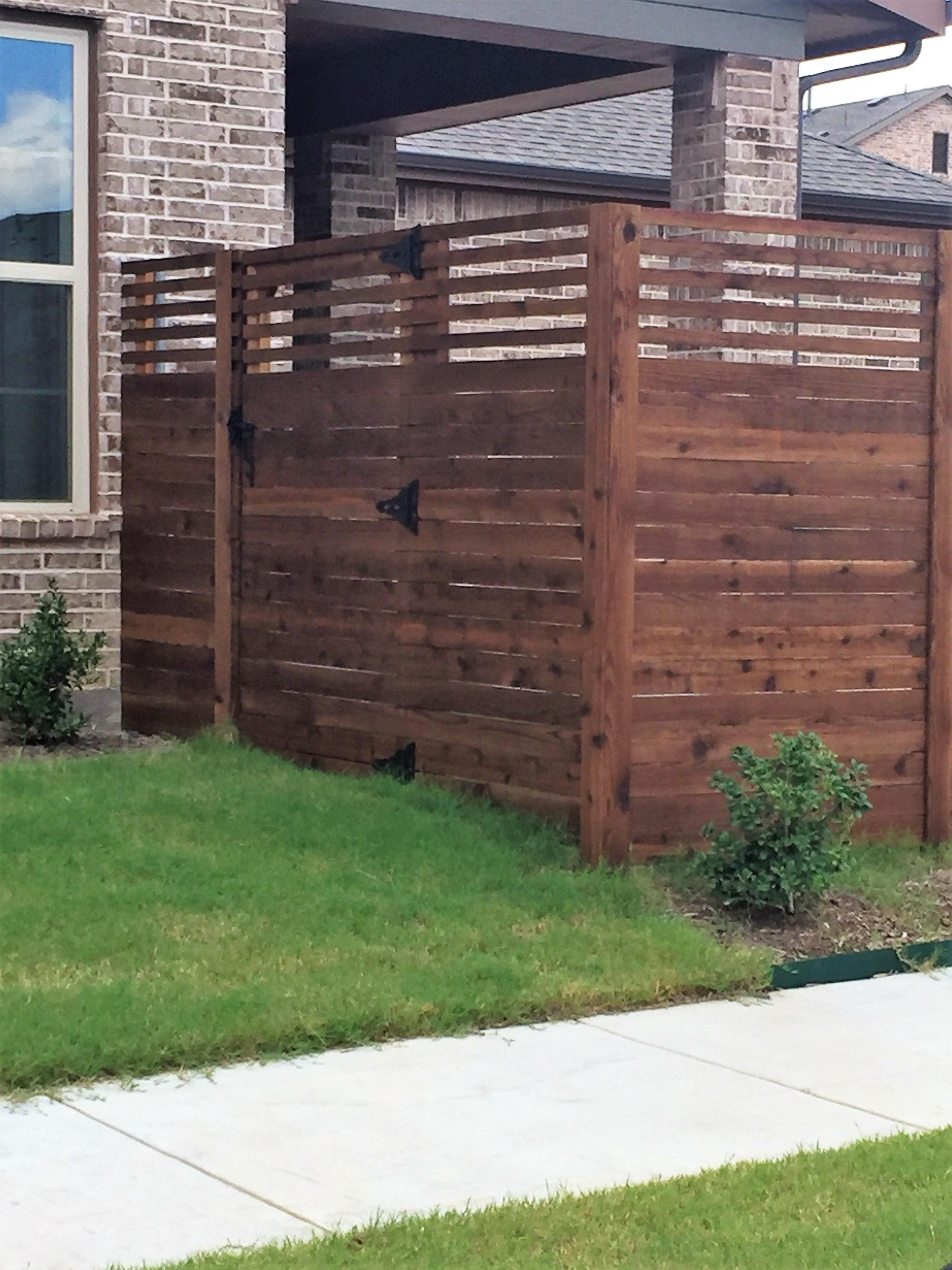 Custom cedar horizontal fence Installed by Titan Fence & Supply