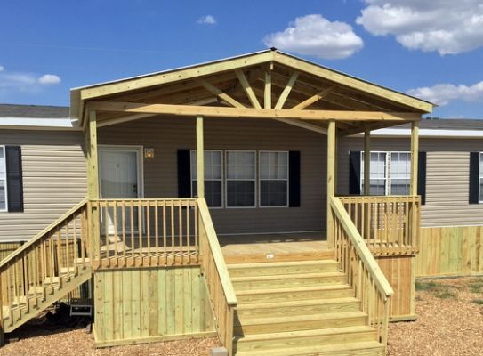 Gable Porches Ready Decks Manufactured Home Porch Mobile Home