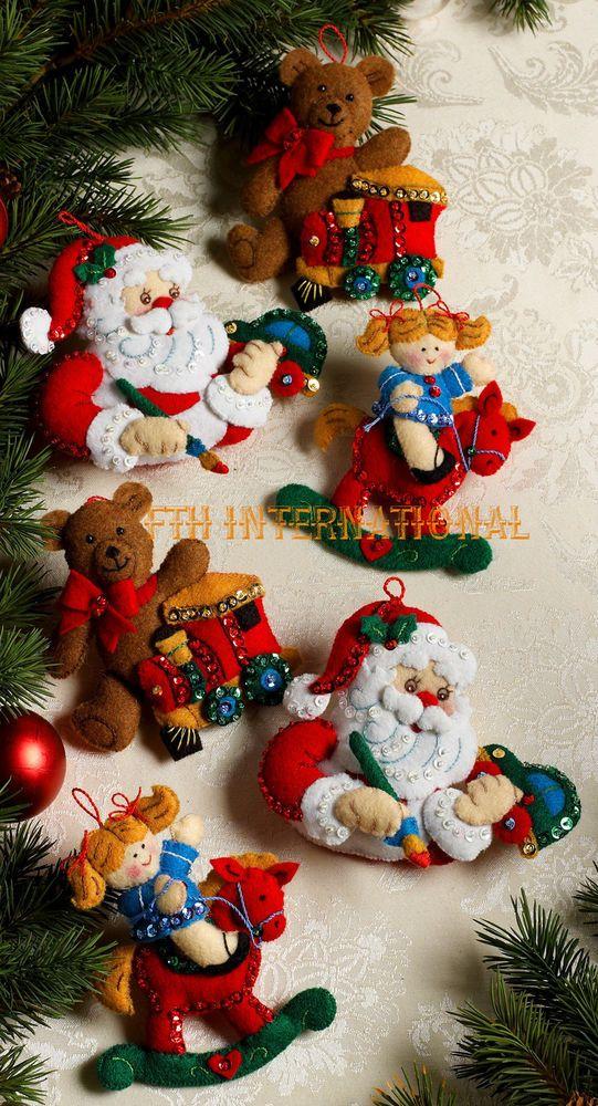 Bucilla In The Workshop ~ 6 Pce. Felt Christmas Ornament Kit #86167 ...
