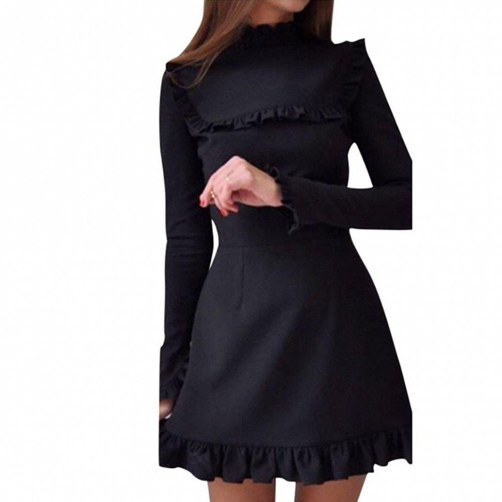 20 Langarm Kleid Schwarz in 20  Schwarzes kleid langarm