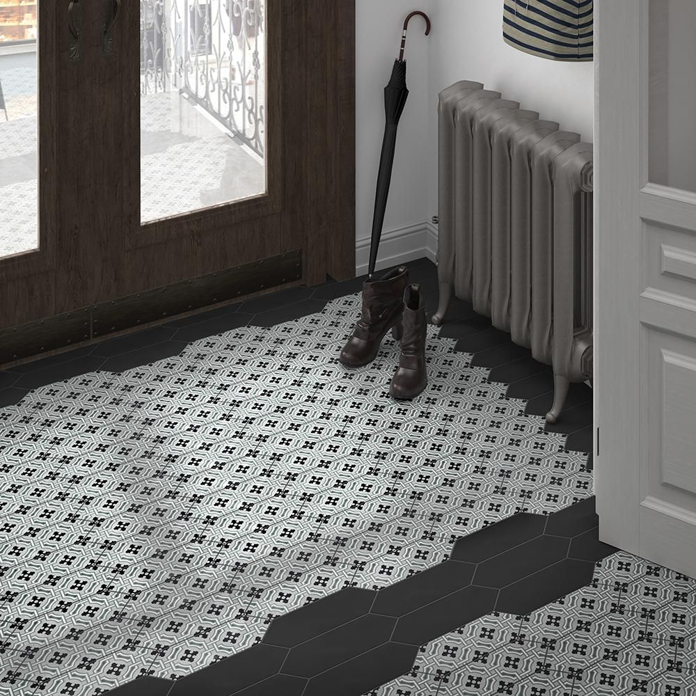 Merola tile kite century grey 4 in x 11 34 in porcelain floor and merola tile kite century grey 4 in x 11 34 in shiifo