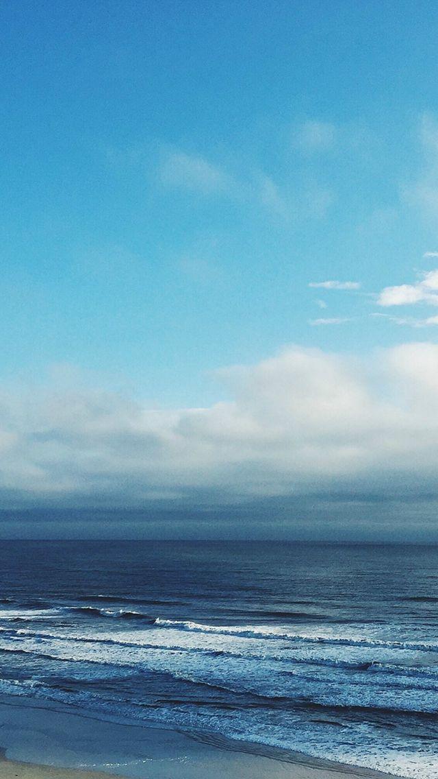 Ocean Blue Sky Cloud Nature IPhone 5s Wallpaper