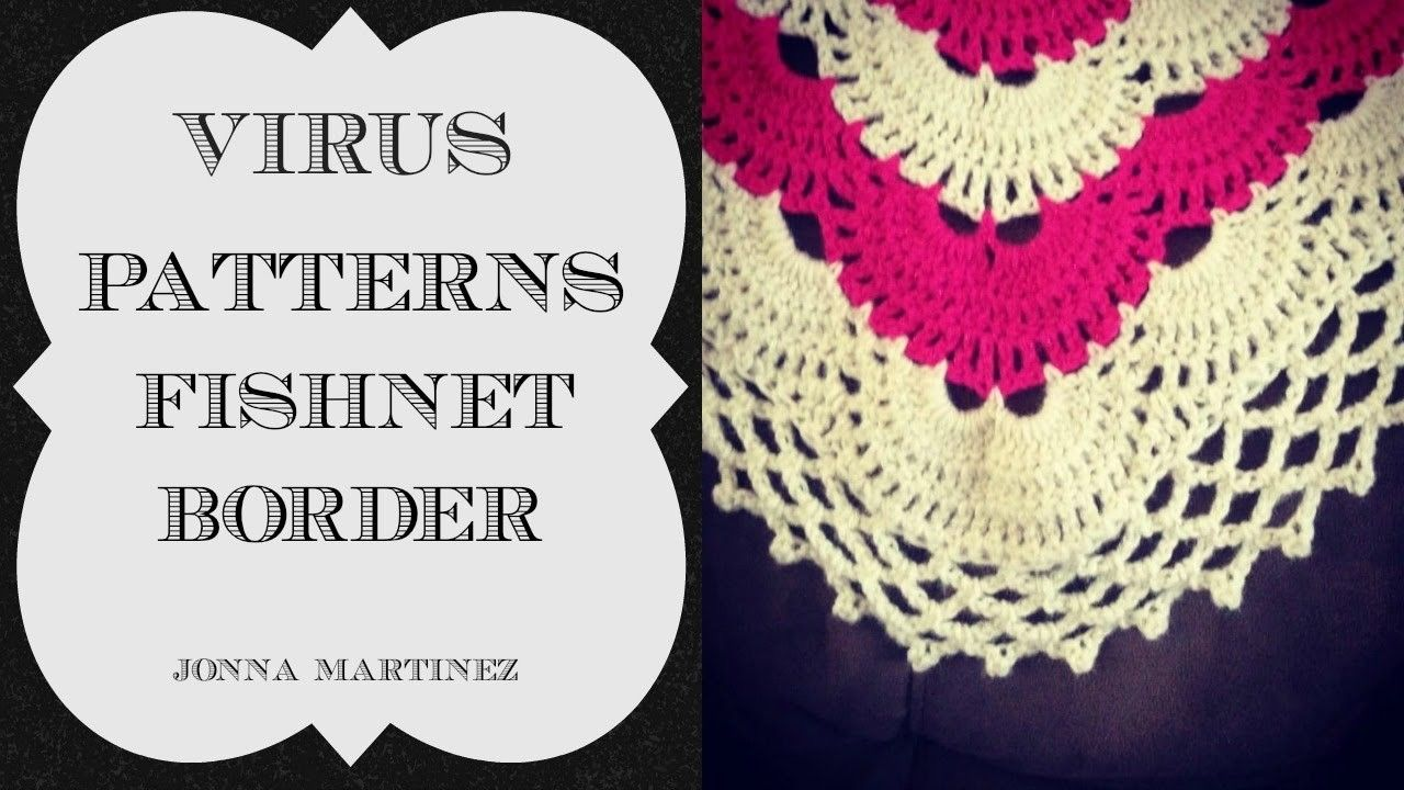How To Add A Fishnet Border To Your Virus Blanket Crochet Gifts