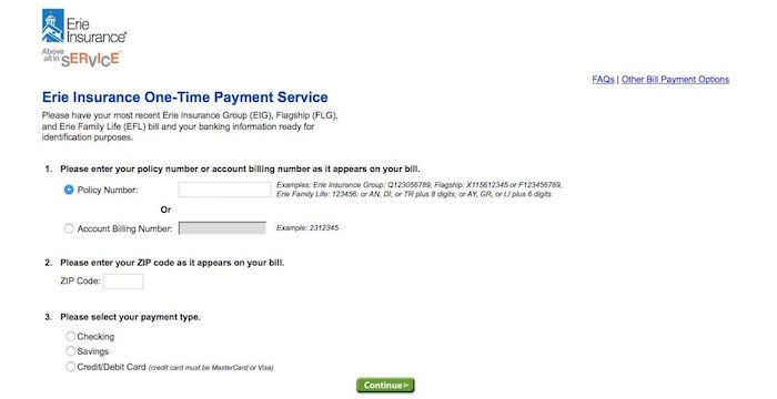 Erie Insurance Bill Pay Online Login Customer Service Sign In