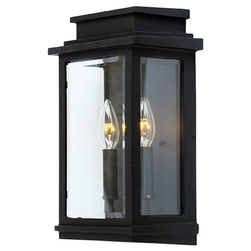 $170 Fremont Black Two Light 16.5 Inch High Outdoor Wall Sconce ...