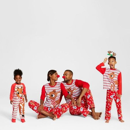 Toddler Rudolph the Red-Nosed Reindeer® Footed Pajama 1-Piece ...