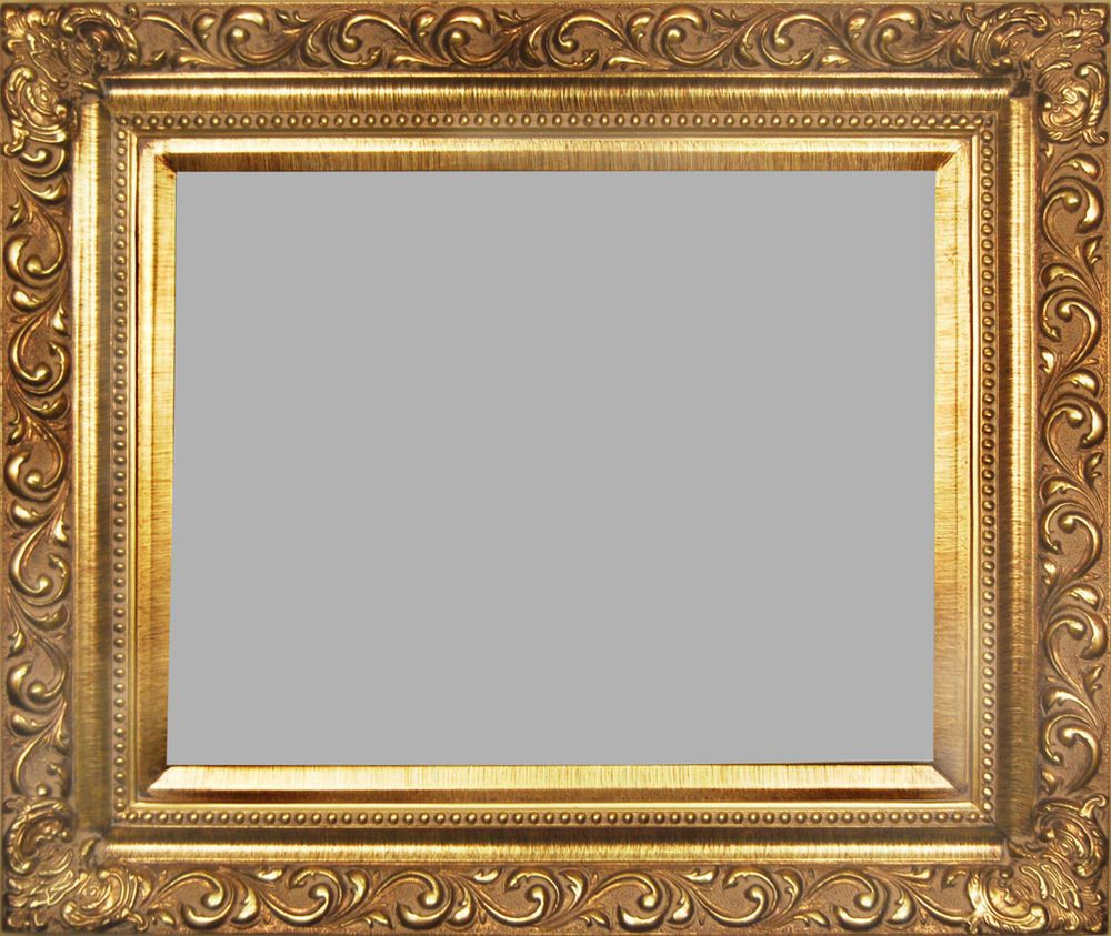 picture frame wood gold ornate wedding swirl 4 25