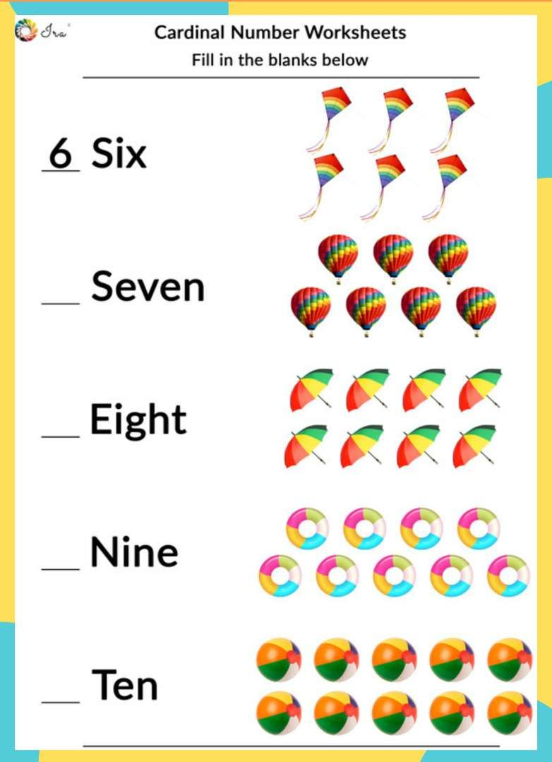 Printable Cardinal Numbers English Worksheets For Your Child 24 36 Months Ira Parenting In 2020 English Worksheets For Kids Kids Math Worksheets Learning English For Kids