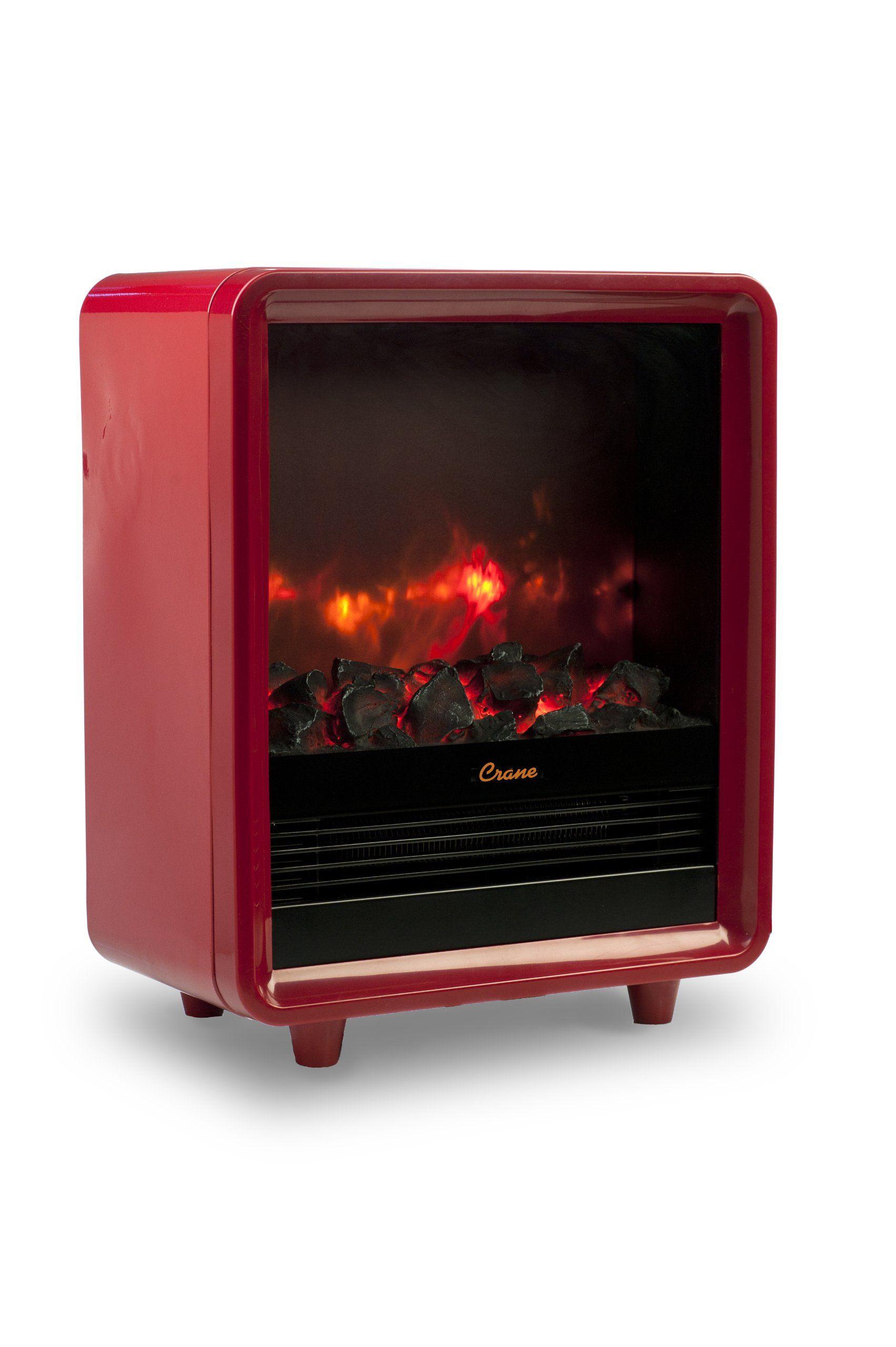 Amazon Com Crane Mini Fireplace Heater Red Space Heaters