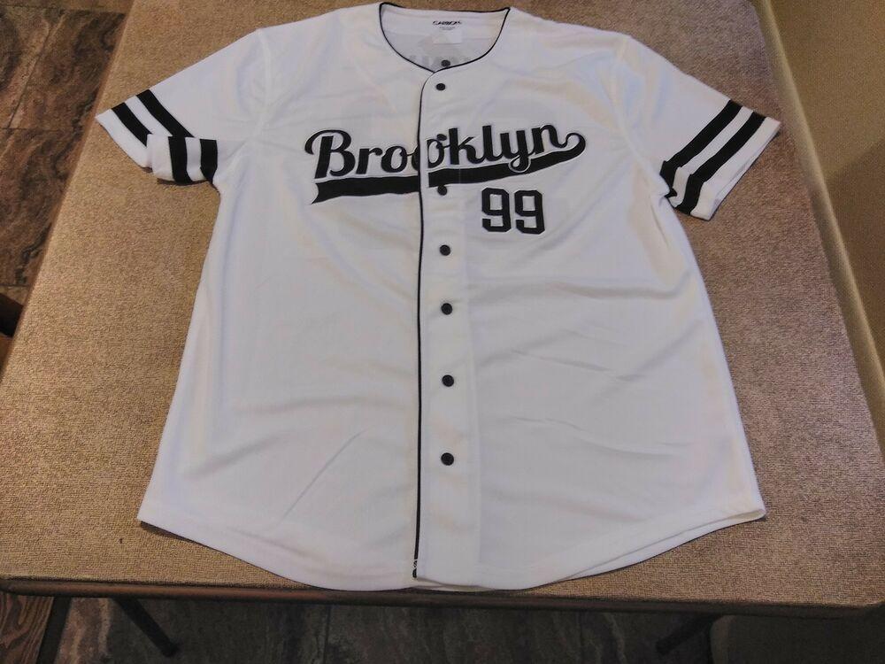 White Brooklyn 99 Bkny Button Down Urban Hip Hop Baseball Jersey Carbon Vneck Baseball Jerseys Jersey Mens Tops